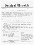 Archival Chronicle: Vol 1 No 3