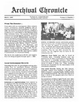 Archival Chronicle: Vol 4 No 1