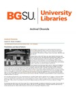 Archival Chronicle: Vol 10 No 2 by Bowling Green State University. Center for Archival Collections