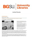 Archival Chronicle: Vol 11 No 1 by Bowling Green State University. Center for Archival Collections