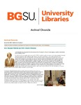 Archival Chronicle: Vol 23 No 3 by Bowling Green State University. Center for Archival Collections