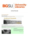 Archival Chronicle: Vol 24 No 1 by Bowling Green State University. Center for Archival Collections