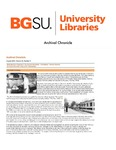 Archival Chronicle: Vol 25 No 2 by Bowling Green State University. Center for Archival Collections