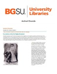 Archival Chronicle: Vol 25 No 3 by Bowling Green State University. Center for Archival Collections