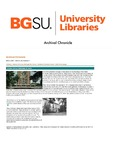 Archival Chronicle: Vol 26 No 1 by Bowling Green State University. Center for Archival Collections