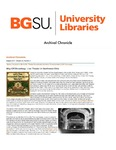 Archival Chronicle: Vol 26 No 2 by Bowling Green State University. Center for Archival Collections