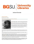Archival Chronicle: Vol 27 No 1 by Bowling Green State University. Center for Archival Collections
