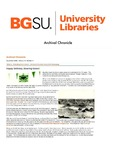 Archival Chronicle: Vol 27 No 3 by Bowling Green State University. Center for Archival Collections