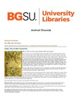 Archival Chronicle: Vol 28 No 1 by Bowling Green State University. Center for Archival Collections