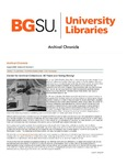 Archival Chronicle: Vol 28 No 2 by Bowling Green State University. Center for Archival Collections
