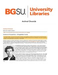 Archival Chronicle: Vol 29 No 1 by Bowling Green State University. Center for Archival Collections