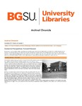 Archival Chronicle: Vol 29 No 3 by Bowling Green State University. Center for Archival Collections