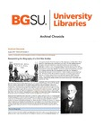 Archival Chronicle: Vol 30 No 2 by Bowling Green State University. Center for Archival Collections