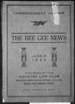The Bee Gee News Commencement Number June 9, 1920