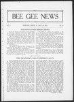Bee Gee News July 28, 1922 by Bowling Green State University