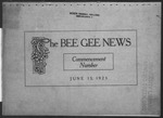 The Bee Gee News Commencement Number June 9, 1923