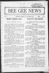 Bee Gee News October, 1923 by Bowling Green State University