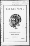 Bee Gee News November, 1928 by Bowling Green State University