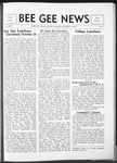 Bee Gee News October 31, 1934