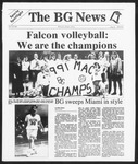 The BG News November 25, 1991