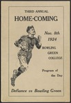 BGSU Football Program: November 08, 1924