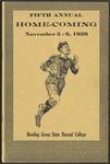 BGSU Football Program: November 06, 1926