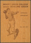 BGSU Football Program: September 30, 1933
