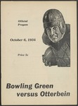 BGSU Football Program October 06, 1934