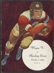 BGSU Football Program October 07, 1939