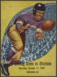 BGSU Football Program: October 21, 1939