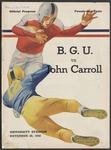BGSU Football Program: November 20, 1948