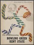 BGSU Football Program: October 25, 1958