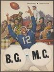 BGSU Football Program November 15, 1958