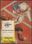 BGSU Football Program October 10, 1959