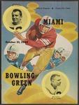 BGSU Football Program October 31, 1959