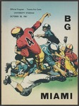 BGSU Football Program October 28, 1961