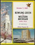 BGSU Football Program October 07, 1967