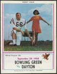 BGSU Football Program: September 28, 1968
