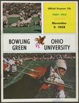 BGSU Football Program November 09, 1968