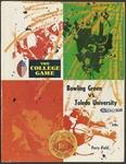 BGSU Football Program October 11, 1969