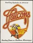 BGSU Football Program September 20, 1975