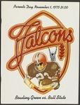 BGSU Football Program: November 01, 1975