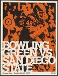 BGSU Football Program September 25, 1976
