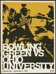 BGSU Football Program: November 06, 1976