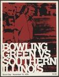 BGSU Football Program November 13, 1976