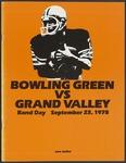 BGSU Football Program September 23, 1978