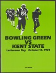BGSU Football Program October 14, 1978