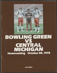 BGSU Football Program: October 28, 1978