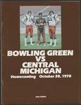 BGSU Football Program: October 28, 1978