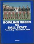 BGSU Football Program: November 04, 1978